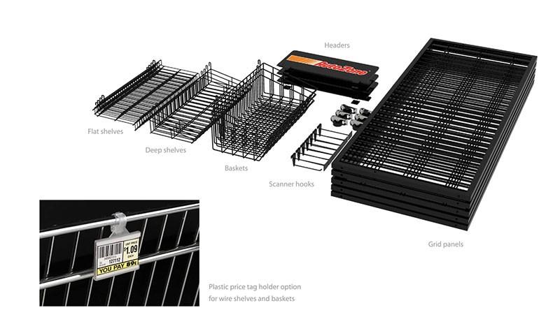 4 Way Metal Wire Basket Car Accessories Display Shelf