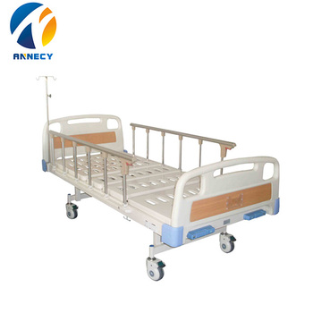 AC-MB051  hot selling online china steel material simple cheap  2 crank hospital manual bed