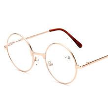 Seemfly металлические ретро прозрачные очки для чтения лупа очки в круглой оправе очки для чтения портативный подарок для родителей дальнозор...(Китай)