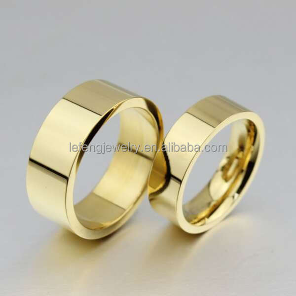 Traditional Chinese Wedding Rings Gold Finger Ring Molds Without Stone