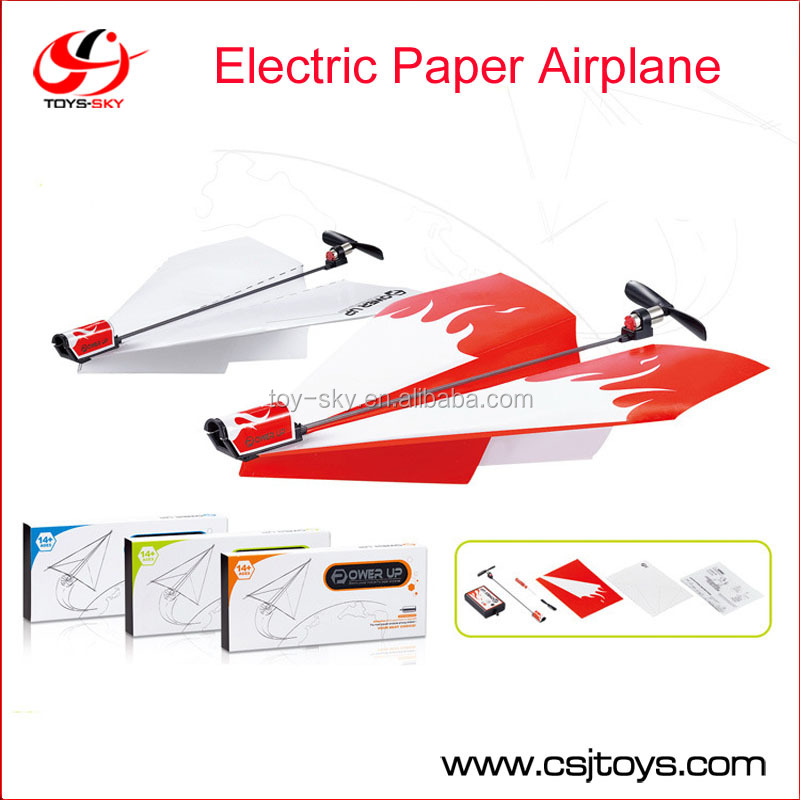 Children's toys new motor electric folding model DIY paper hot spot power toys paper airplane