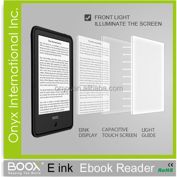 Android TTS Wifi Touch Screen Eink Ebooks Reader Support PDF