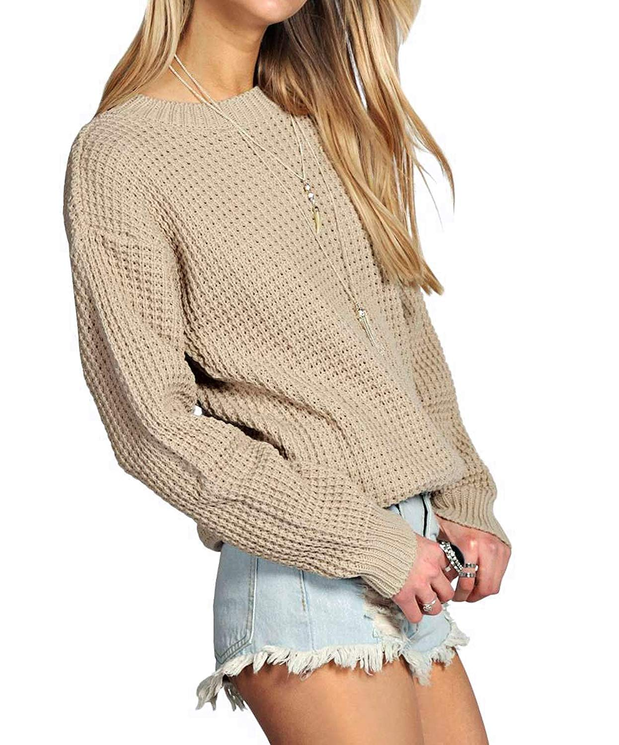 f923dd2a5 Buy Ladies New Plain Chunky Knit Loose Baggy Oversized Jumper Tops ...