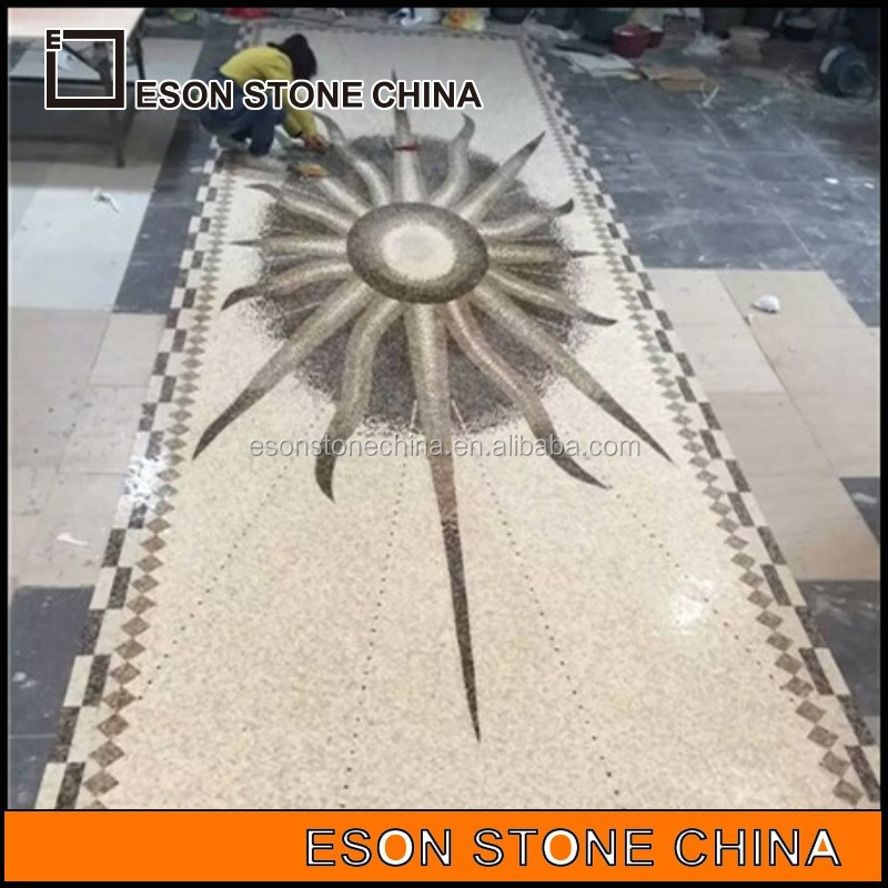 eson <strong>stone</strong> 110 marble art flooring water jet medallion for sale