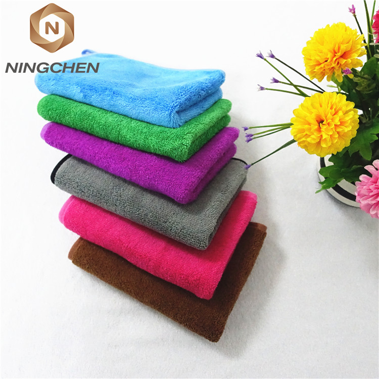 "hot sales  40*40cm (12""x12"")Twisted Loop Drying towel microfiber car cleaning cloth grey color High quality twist yarn towel"