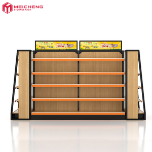 Manufacturer Metal Shelf Supermarket Store wood rack display shelf Store Dimensions Convenience Store Shelf
