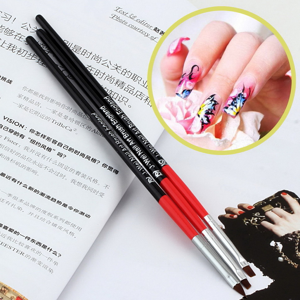 1set Nail Art Design UV Gel Acrylic Brush Pen Drawing
