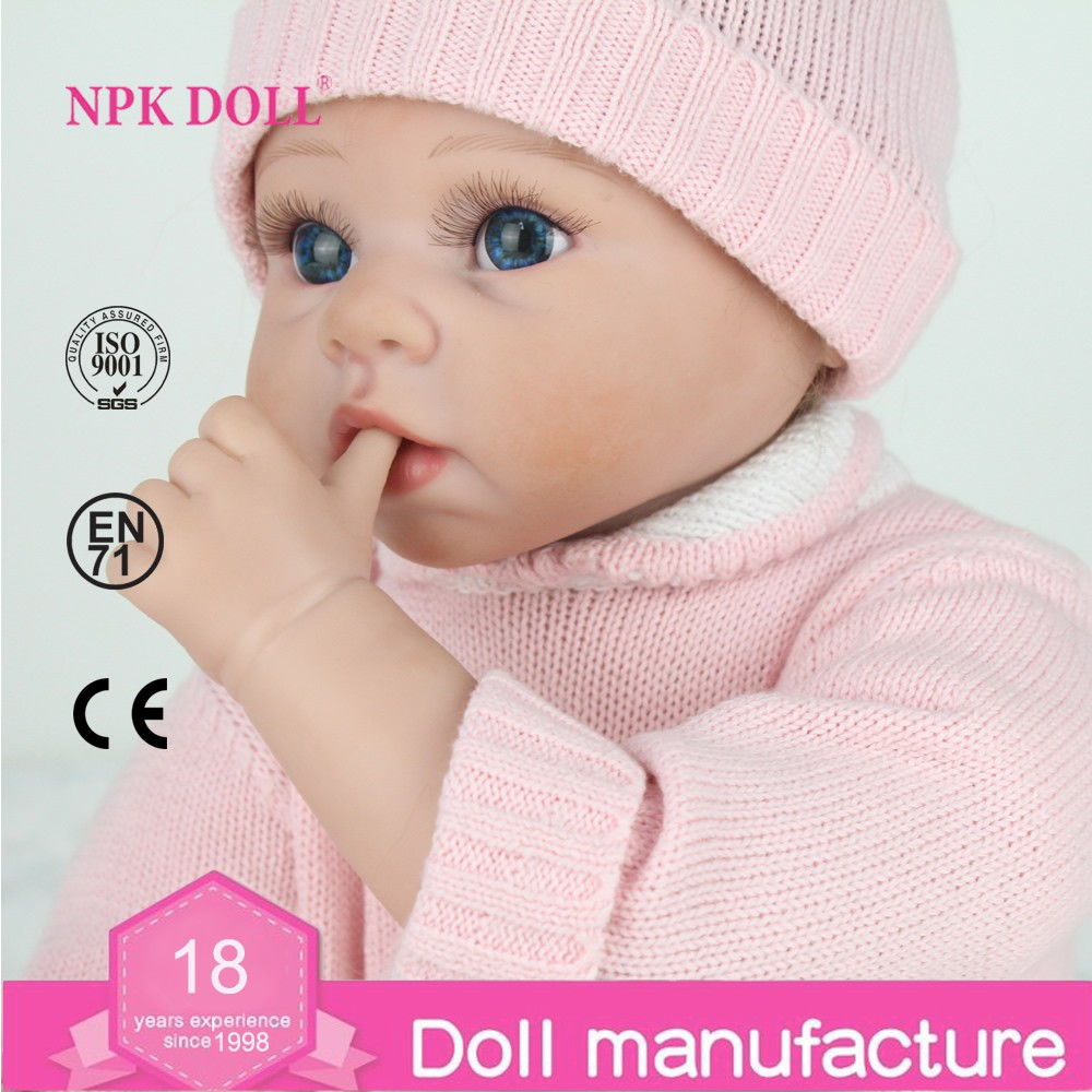 22 Inch Silicone Reborn Baby Dolls Lifelike Doll Real Like ...