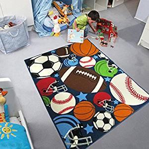 Buy Huahoo Blue Kids Rug Fun Sport Rugs Nylon Carpet Boys Girls