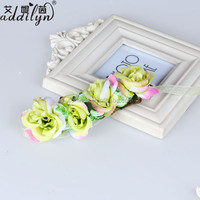 Korean Fabric Rose Flower Wedding Arm Bracelet for Girls