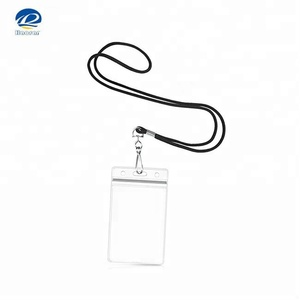 Vertical Clear Plastic PVC ID Name Badge Holder