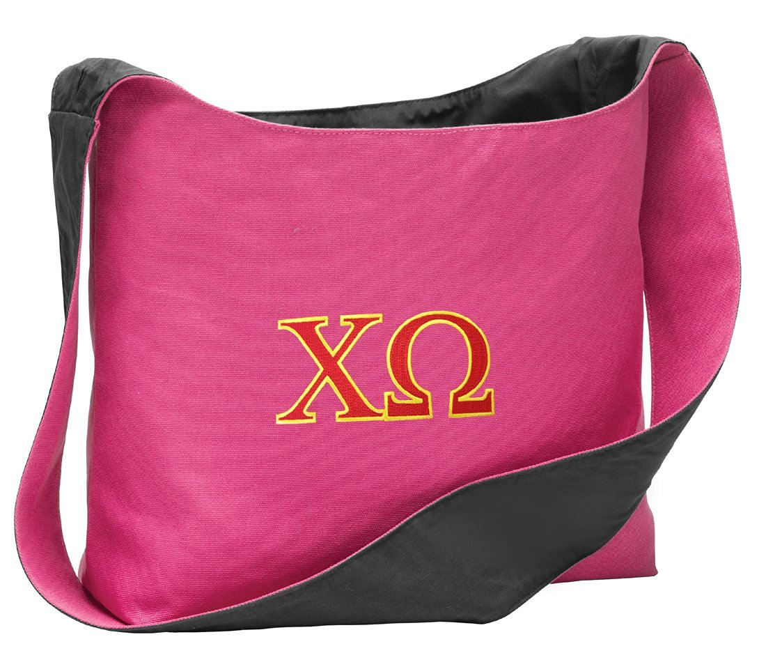 Chi Omega Tote Bag Chi O Sorority Cross Body or Over Shoulder Bags