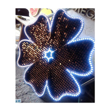 2018 Nieuwe Shiny sequin panel franse bulldog <span class=keywords><strong>home</strong></span> <span class=keywords><strong>decor</strong></span>