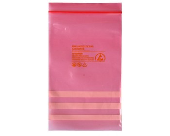 Pink Electronic Zip Lock Static Dissipative Bags - Buy Esd Bubble  Bag,Electronics Packaging,Customized Static Shielding Bags Product on  Alibaba com