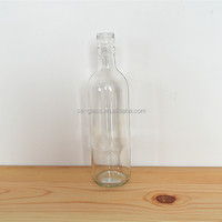 Red wine glass bottle with soft cork and screw cap