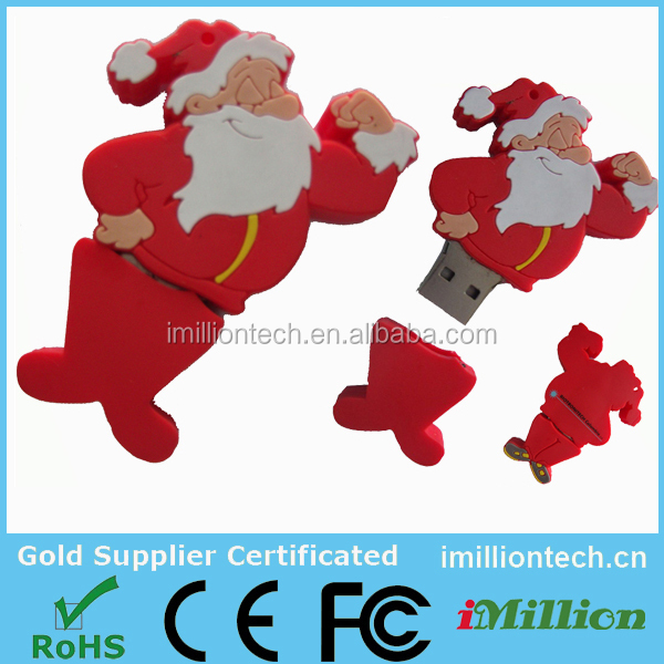 New Christmas gift usb flash drive,Santa Claus usb sticks,Christmas Santa Claus shape usb