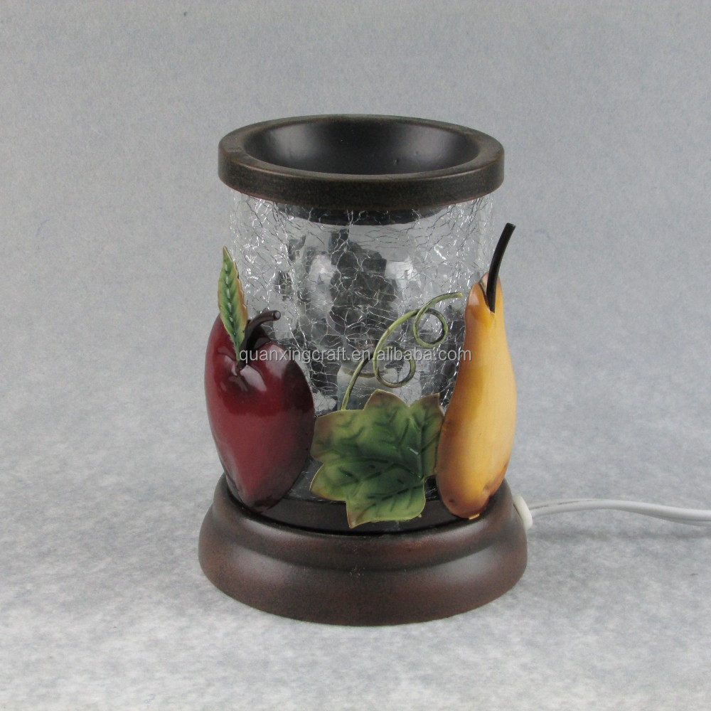 New fruit design glass electric warmer /candle warmer/diffuser fragrance lamps/metal aroma oil burner for wholesale