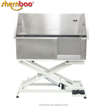 Shernbao BTS-130E collapsible electric lifting stainless steel pet care products dog grooming tubs