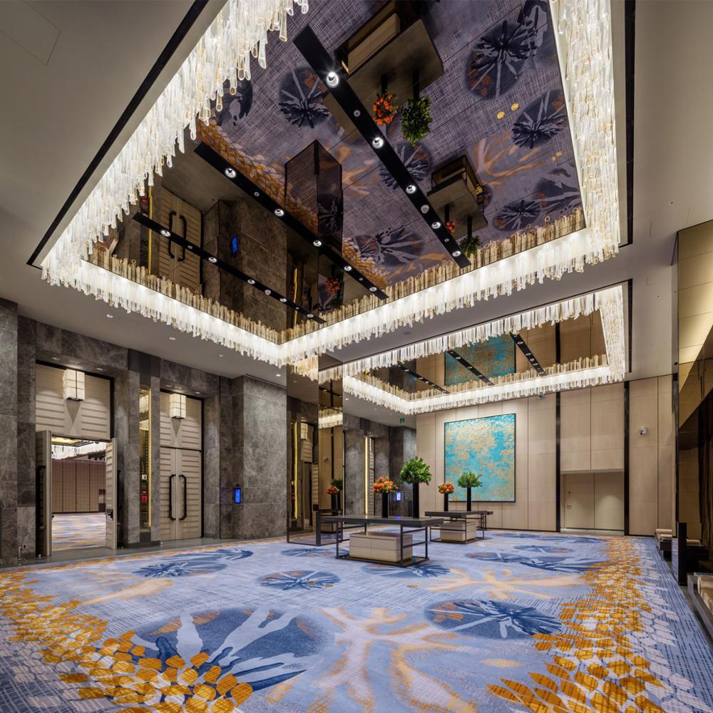 호텔 장식 손으로 아트 유리 샹들리에 현대 펜던트 라이트