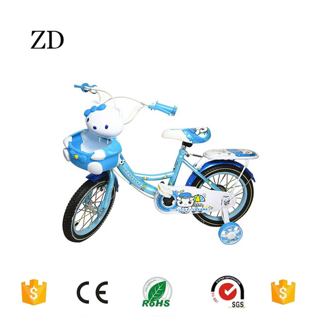 Hebei Zandi factory popular two seats children bicycle 12 14 16 18 20 blue pink red hello kitty desgin kids bikes for sale