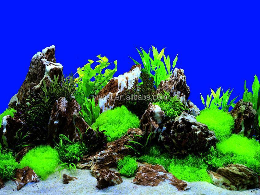Plastik Peyzaj şelale Akvaryum Arka Plan Akvaryum Boyama Resimleri
