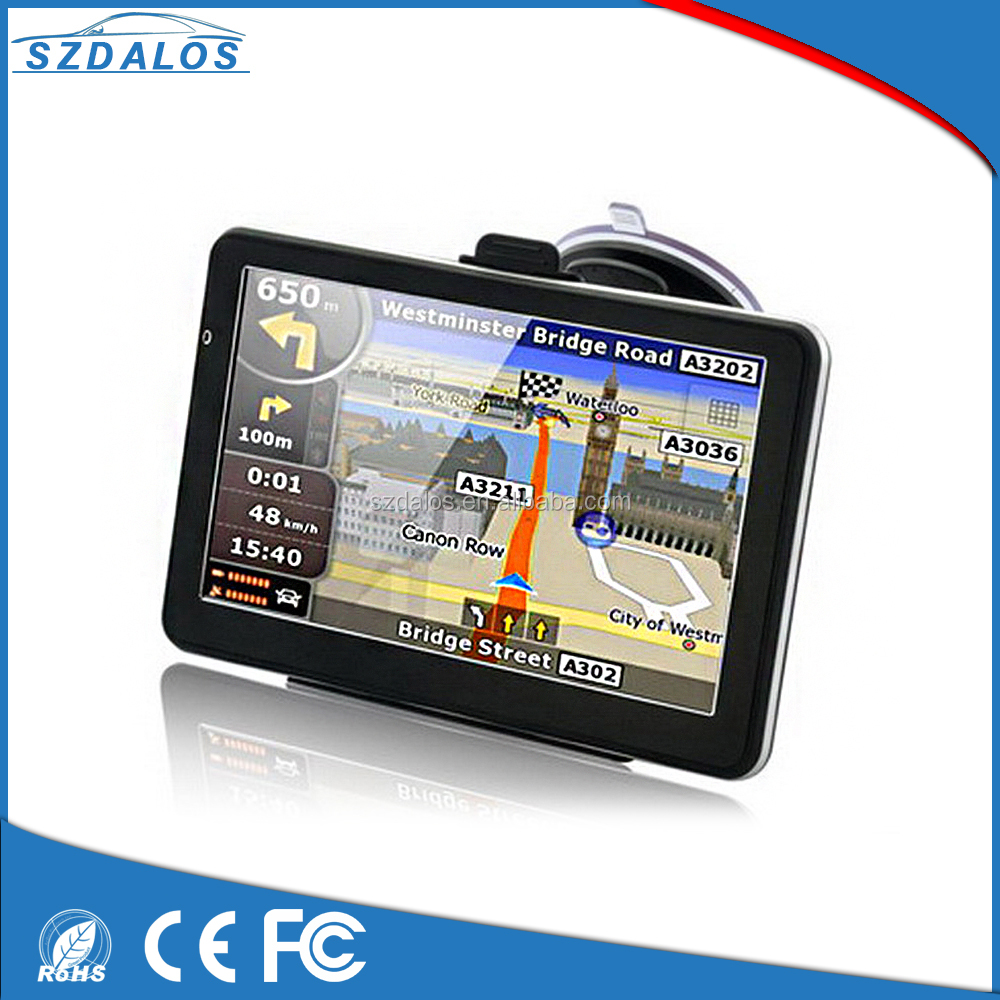 Top quality 7 inch Car GPS Navigation 800x480 LCD True Color Touch Screen 8GB Memory FM MP3 MP4 New Map