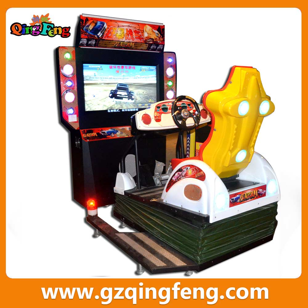 Qingfeng VR Day big discount 46LCD War car game machine All dynamic india car racing game machine