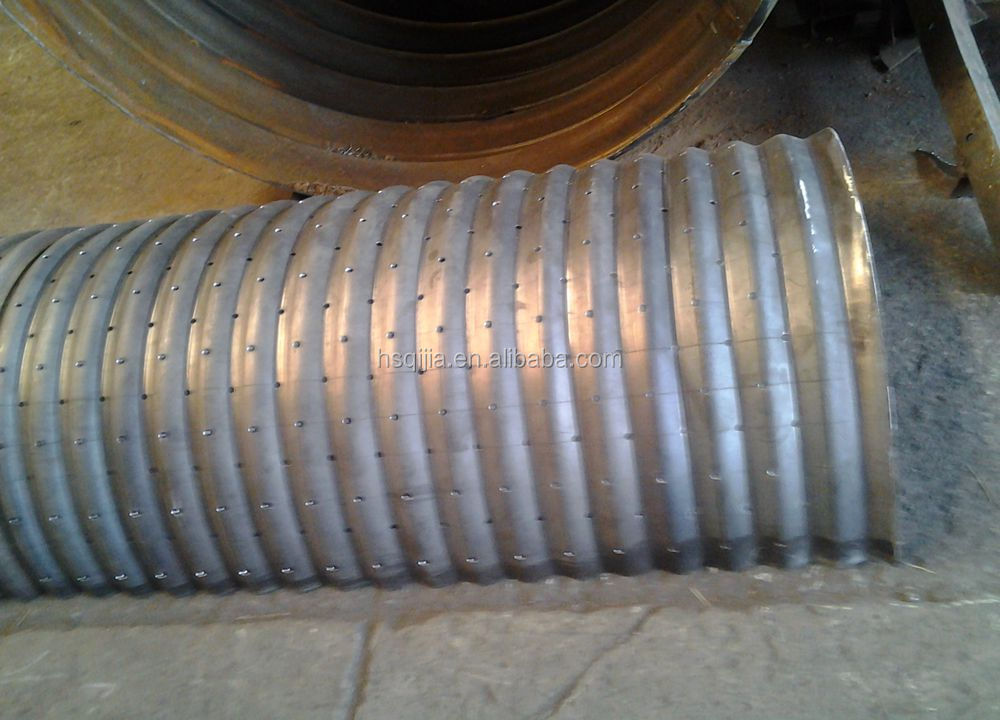 corrugated drain pipe arch culvert prices oval shaped steel culvert pipe