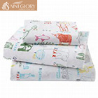 kids customized digital print sheet set fitted cotton bed sheet