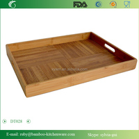 DT028/Large China Feature Food Clothes Bamboo Wood Vietnam Texture Sandbeach Sauna Room Feature Serving Tray