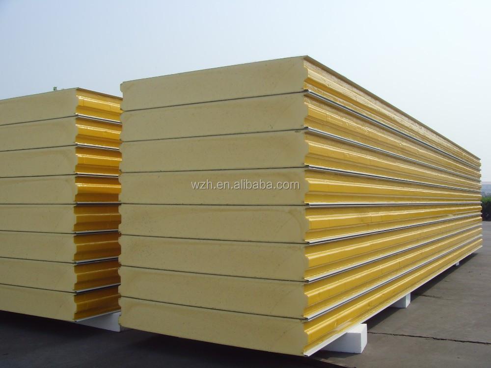 Polyurethane Sandwich Panel : Mm eps sandwich panel for floor plastic roofing sheet