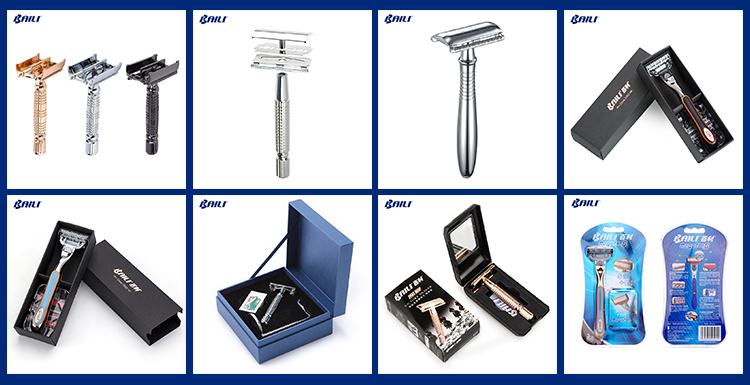 Baili 5 blade razor with 1Trimmer on the back stainless steel blade