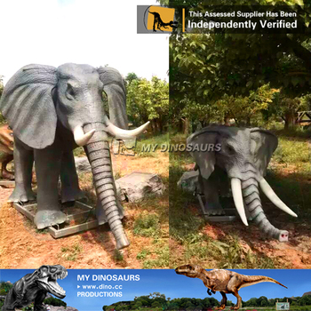 My-dino electric animals elephant figurines for zoo
