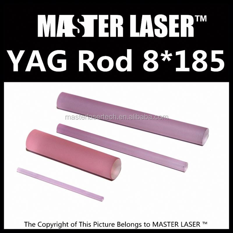 Wide Selection 1064 nm 532nm nd yag laser 8*195 laser rods for cutting machine