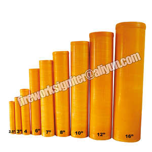 Mortar tube factory wholesale fireworks fibreglass mortar tubes for display shells 1.75 to 16inch customize color tubes