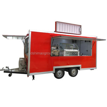 Stainless Steel Customs Catering food truck mobile trailer BBQ with wheels