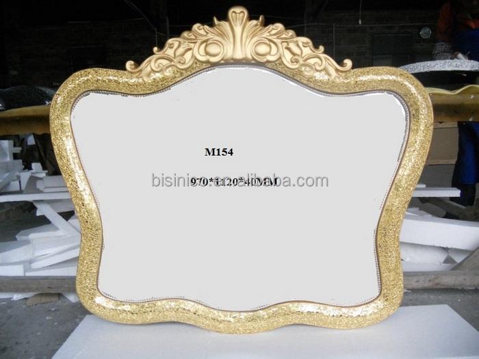 European Elegant Bisini Bathroom Mirrored Furniture Large Oval Bathroom Mirror In Silver Design