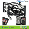 Zebra strip universal smart phone wallet style leather case