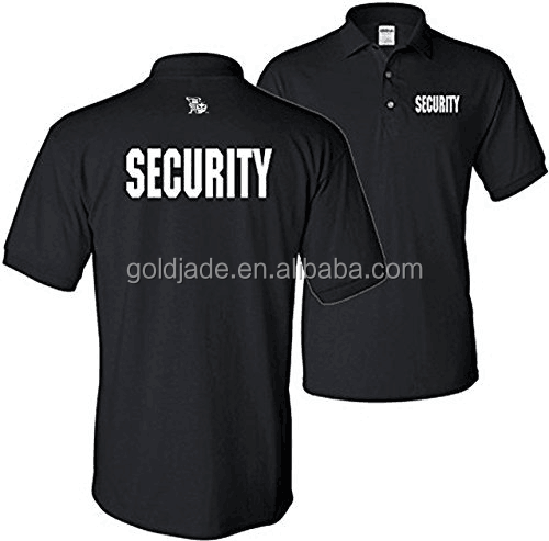Customized New Item High quality Embroidery Printing Security Uniforms Designs