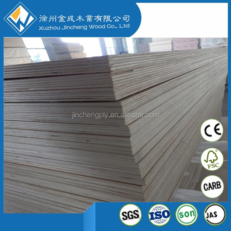 Professional 18mm Birch plywood with uv finished manufacturer Full Birch plywood sheet with 72 hours boiling water Phenolic glue