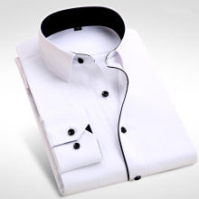 2016 Brand New Men Shirt Male Dress Shirts Men's Fashion Casual Long Sleeve Business Formal Shirt camisa social masculina
