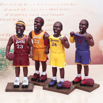 Customized nba star figurine resin basketball models birthday gift figurines