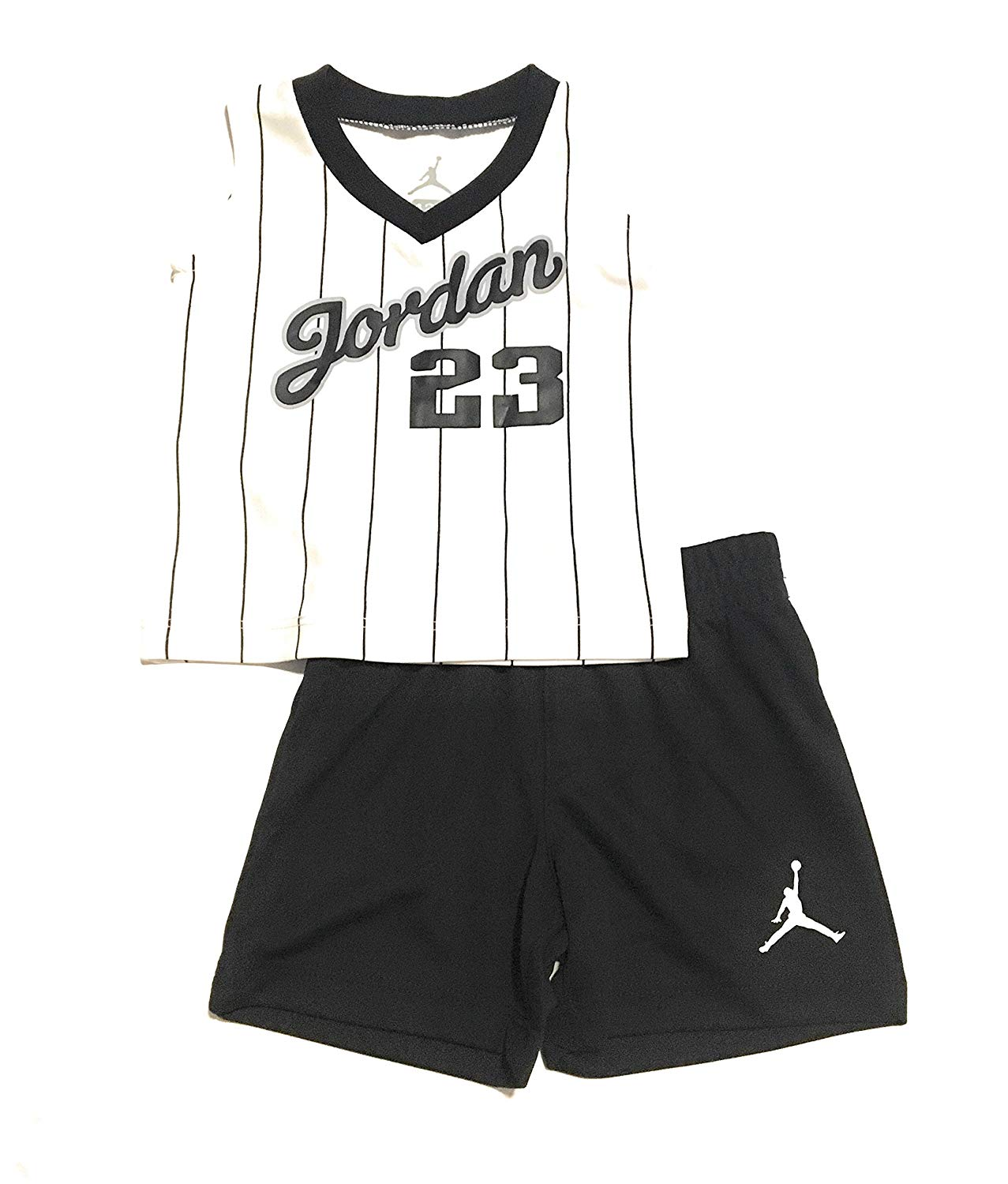 d3be0f86d9296c Get Quotations · Jordan Infant Boys Tank Top and Short Set White Black Size  24 Months