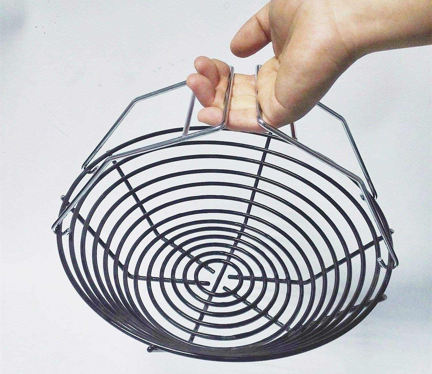 e582293003ad8 Get Quotations · Broilmann Porcelain Steel Charcoal Ash Basket with Two  Removable handles, Fits for Large Big Green