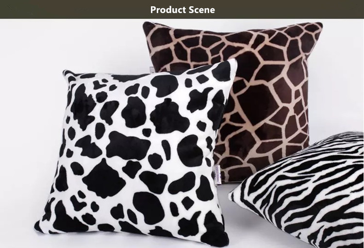 High Density Super Soft Flannel Back Cushion Cover