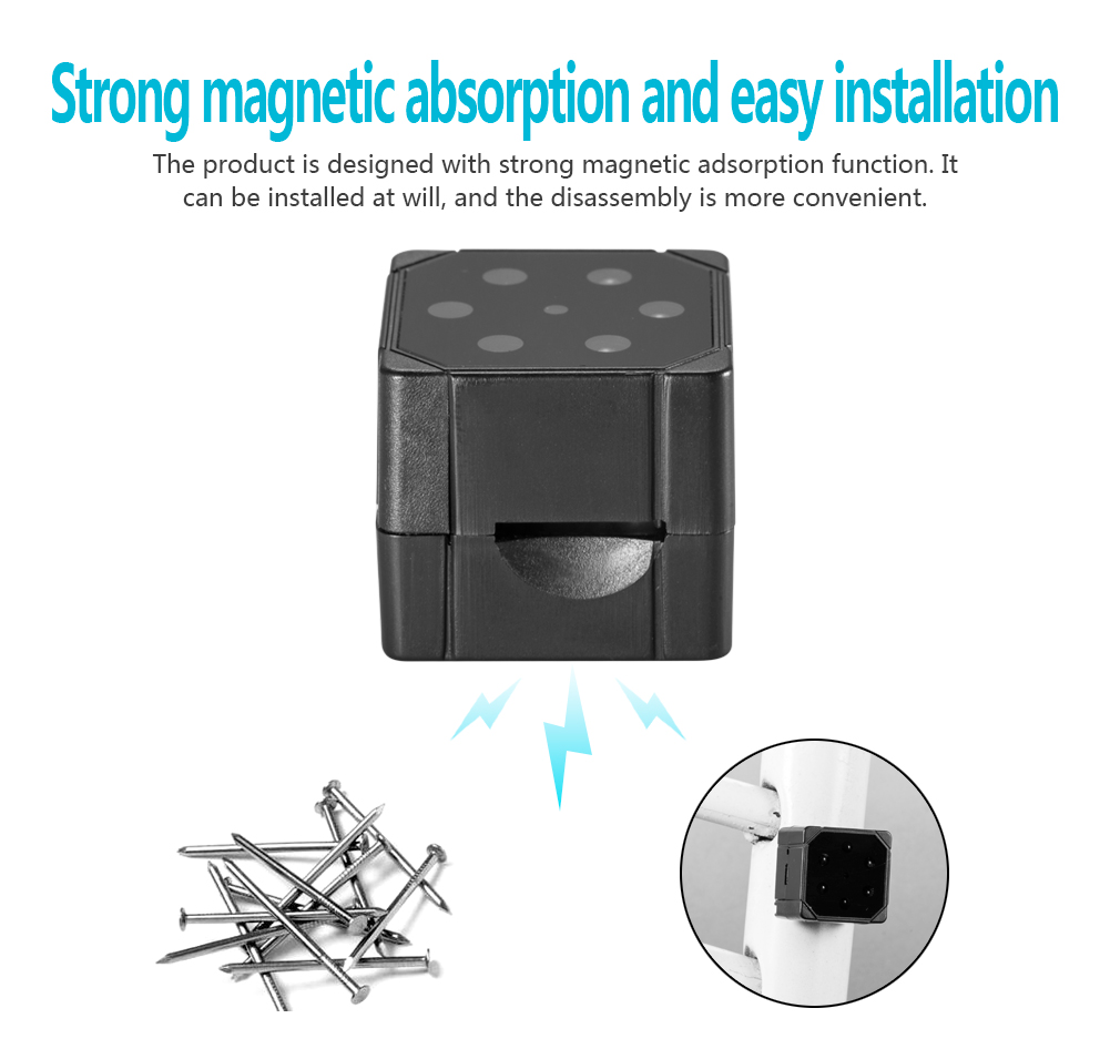 Amazon hot selling magnetic SQ19 1080p wireless mini  invisible bathroom hidden camera