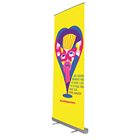 Aluminum Retractable Roll Up Banner Stand Size Cm Display