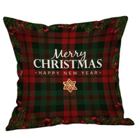 "Christmas Throw Pillow Covers Home Decorative Throw Pillow Case Cushion Cover for Sofa Couch 18"" x 18"""