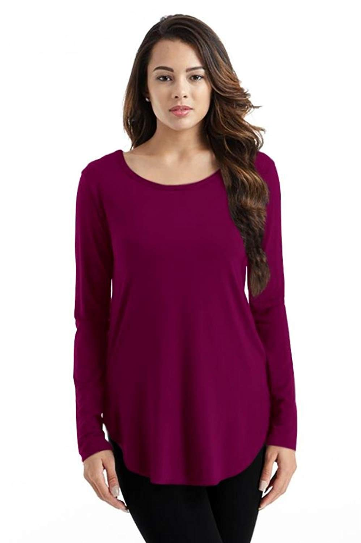 ae2c5474ae346 Buy Simlu Long Sleeve Modal T Shirt Crew Neck