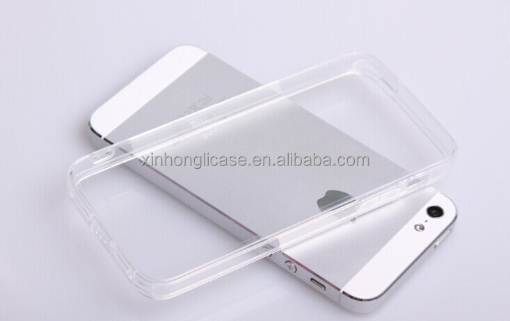 ultra thin transparent clear tpu pc case for iphone 5 5s phone case